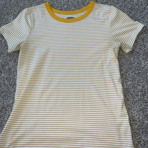 yellow striped tee